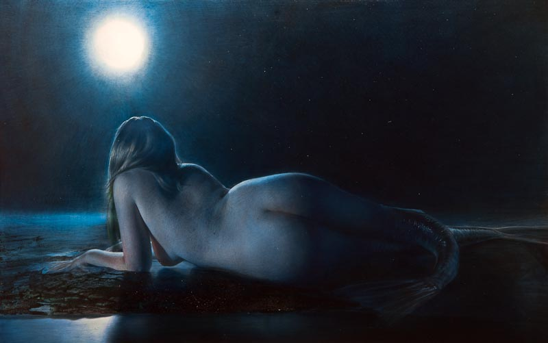 Robert Schoeller Painting: Full Moon Painting TH022