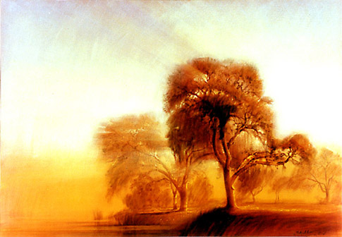 Robert Schoeller Painting: Morning Mist Painting LS037