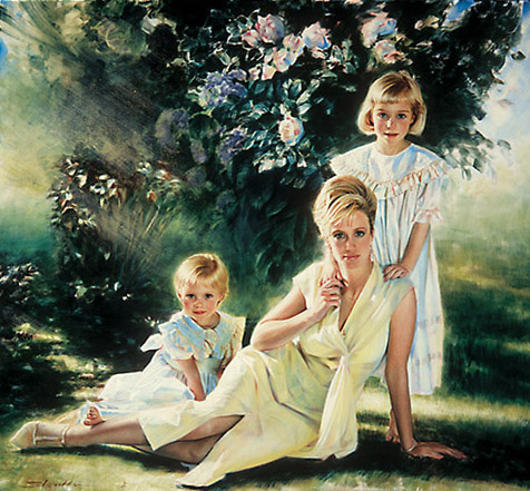 Robert Schoeller Painting:  Family Portrait 032