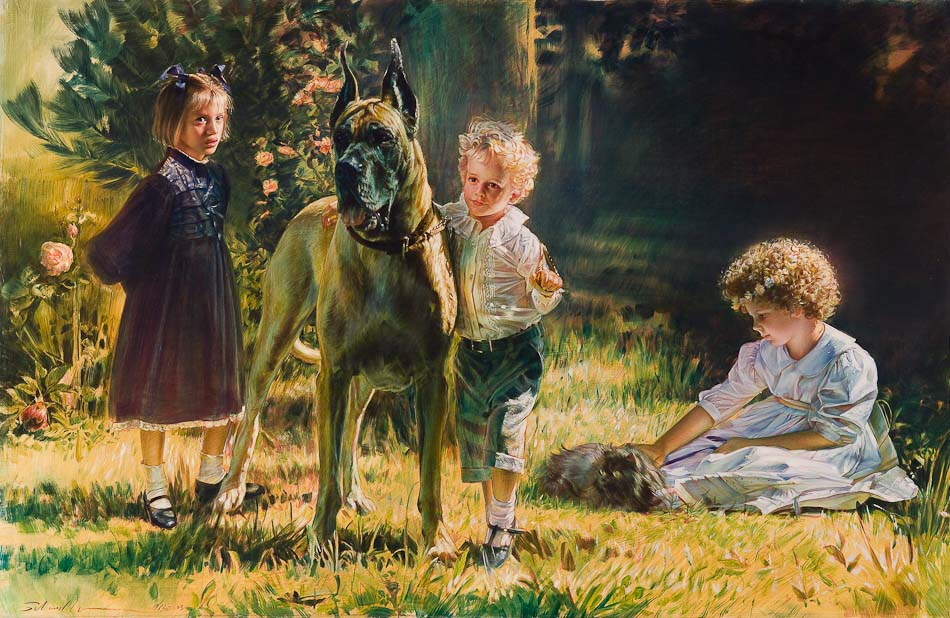 Robert Schoeller Painting:  Family Portrait 048
