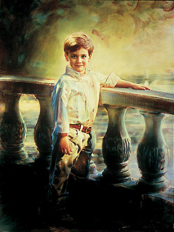 Robert Schoeller Painting:  Little Boy Portrait 076