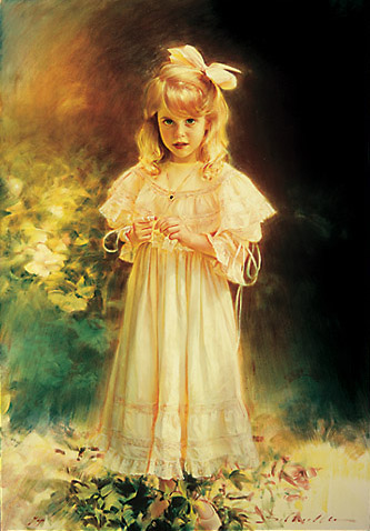 Schoeller painting little girl portrait little girl portrait 097