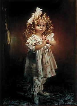 Schoeller painting little girl portrait little girl portrait 105