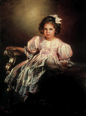 Robert Schoeller Painting: Little Girl Portrait Little Girl Portrait 134